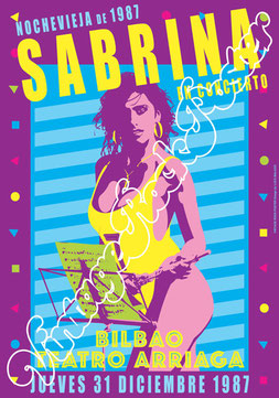 sabrina salerno, sabrina salerno poster, sabrina salerno concert