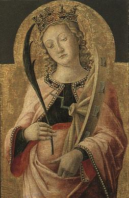 """Antonio Vivarini  Santa Caterina  Bari, Pinacoteca """"Corrado Giaquinto"""""""