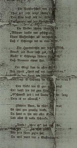 Ausschnitt Ausspielzettel von 1877