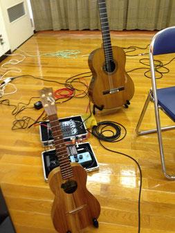 我が子の園での演奏会ウクレレ&ギター