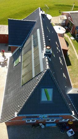Das neue Dach unseres Haupthauses aus der Vogelperspektive