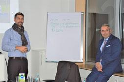 Philipp Hermannsdörfer (links) und Prof. Dr. Sean Patrick Saßmannshausen