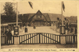 Le club de tennis de Paris-Plage en 1923