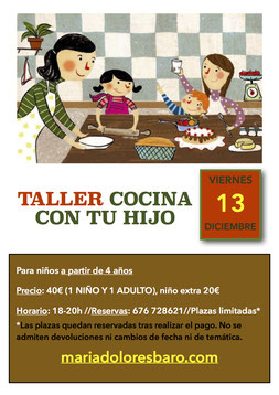 Taller de cocina para niños , dulces de navidad
