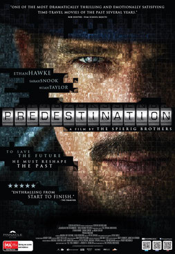 Presdestination movie poster.  Image of star Ethan Hawke.