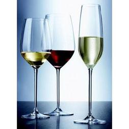 De verschillende wijnglazen