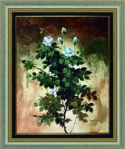 cuadro pintado a mano de flores