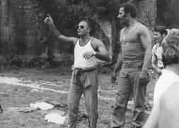 The Hammer am Set von Inglorious Basterds mit Enzo Castellari
