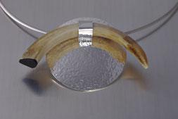 Schmuck, Anhänger, Silber 925, Keilerhaken, Handarbeit, Unikat, Einzelstück, Goldschmiede Backhaus, Markus Backhaus,  Sterling-Silver