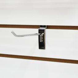 Крючок одинарный F-291 на экономпанель, 150 мм, хром