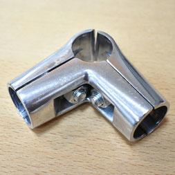 UNO 04X Угловой соединитель трёх труб, хром