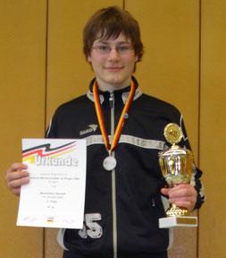 Maximilian Gerneth 2. Platz auf der DM 2008 in Goldbach