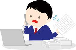 四半期報告書を作成する経理部員