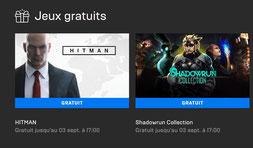Hitman et Shadowrun Collection gratuits sur epic Games Store