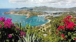 Blick auf English Harbour / Antigua