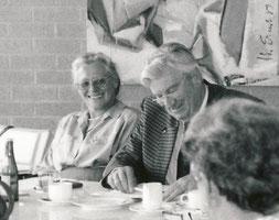 Zwei von drei GründerInnen des LandFrauenverbandes Württemberg-Hohenzollern: Ruth Wößner und Ernst Geprägs