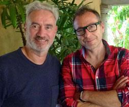 Jo Müller (re.) mit Roland Emmerich. Foto: privat