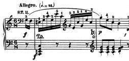 La música académica occidental ha desarrollado un método de escritura basado en dos ejes: el horizontal representa el transcurso del tiempo, y el vertical la altura del sonido; la duración de cada sonido está dada por la forma de las figuras musicales.