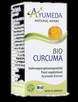 Ayumeda Curcuma Extrakt - Bio & Vegan Ayumeda Ayurveda - Nahrungsergänzungsmittel werden in Deutschland hergestellt