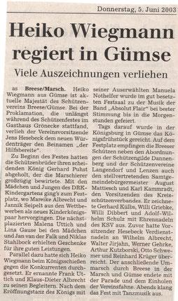 Elbe-Jeetzel-Zeitung 5.Juni 2003