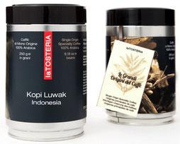 café kopi luwak 100% arabica indonésie grand cru italien