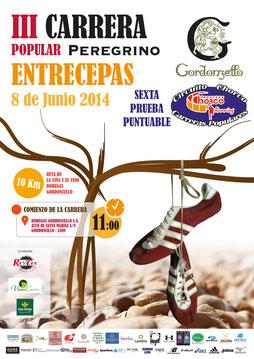 III CARRERA PEREGRINO ENTRECEPAS - Gordoncillo, 08-06-14