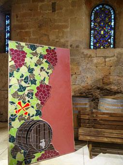 """""""La vigne"""" Zam-création, ici exposée à l'Abbaye de Fontfroide (11)"""
