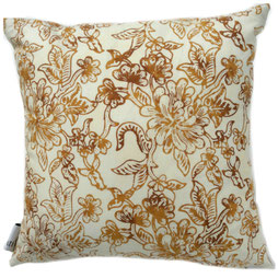 Textiil Gold Parang Block Batik Pillow