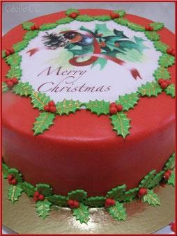 Tutoriel gâteau Cake Design pour Noël pour débutant et plus confirmé, pâte à sucre, boutique en ligne pâtisserie et cake design, Chic Choc Cake