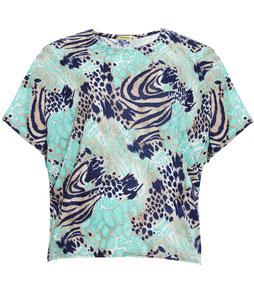 elegantes buntes T-Shirt für runde Frauen, Größe 42 bis 52
