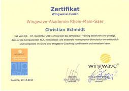 Zertifikat wingwave®-Coach Christian Schmidt in Saarlouis im Saarland