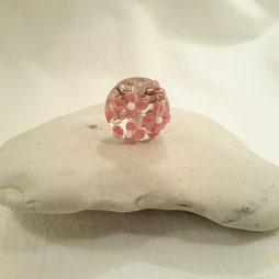Rosa Blüten auf güldenen Luftblasen-VERGEBEN-