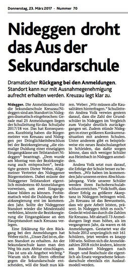 Interessanter Artikel der Dürener Nachrichten vom 23.3.2017