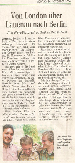 Schaumburger Nachrichten 24.11.14