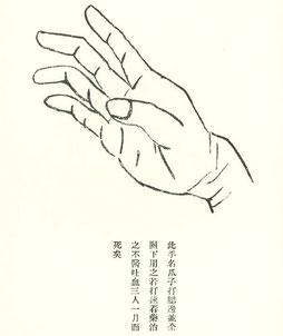 Eine der 6 Ji Hände aus dem Bubishi