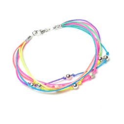 Funny Pearls ♥ Satin 925 Silberkugeln Neonfarben