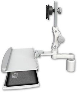 デスクマウント ディスプレイキーボード用アーム VESA:ASUL550-D3-KDP-AS1