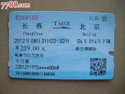 Nouveau ticket de train ( avec le numéro de carte d'identité et le nom )