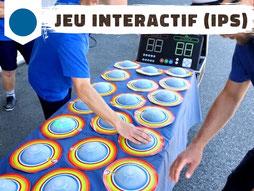 Location de jeu interactif, interactive play system avec cibles tactiles