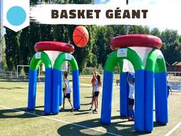 Location jeux sportifs gonflables Annecy basket ballon géant