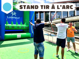 Location stand tir à l'arc gonflable, safe archery Annecy