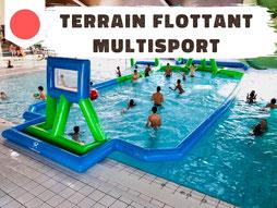 Location terrain gonflable flottant aquatique piscine