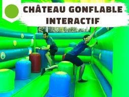 Location château gonflable interactif avec cibles tactiles