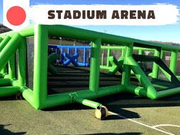 Location arène gonflable avec archery tag et bubble foot
