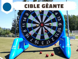Location jeu foot soccer dart cible gonflable géante velcro Annecy