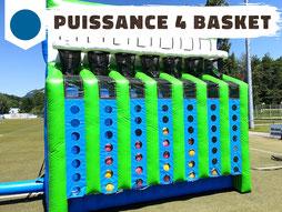 Location puissance 4 basket gonflable, jeu sportif team building Ludimouv