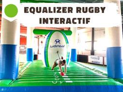 Location jeu gonflable rugby, equalizer duel élastique