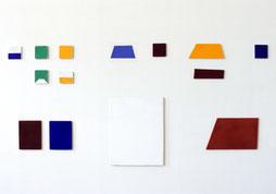 Matthieu van Riel. Zonder titels pigment op linnen en katoen diverse formaten 2005