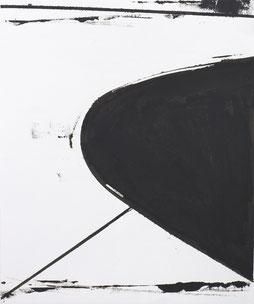 Matthieu van Riel. Schilderijen. Curve in Landschap 39X32,6cm olie op papier 2019
