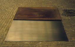 Matthieu van Riel. Z.T. 120x160x2 cm metaalplaten 1987